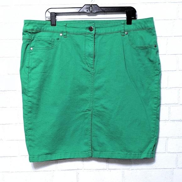 801ee3ca4 Eloquii Skirts | By Limited Green Denim Skirt 18w | Poshmark